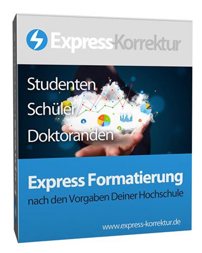 Express-Formatierung Layout formatieren layouten Grafiker Layouter - Studenten, Doktoranden - Bachelorarbeit, Masterarbeit, Diplomarbeit, Dissertation, Doktorarbeit, Hausarbeit, Seminararbeit, Examensarbeit