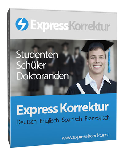Express Korrekturlesen Dissertation, Doktorarbeit korrigieren lassen, Korrektur Promotion - Deutsch, Englisch, Italienisch, Spanisch, Französisch